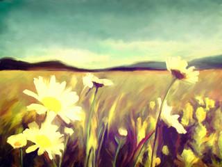 Fototapetaspring watercolor flowers