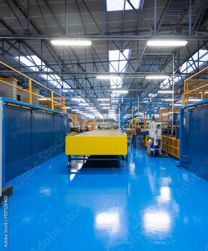 Staande foto Industrial geb. Edificio industriale, interno
