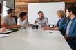 Office workers meeting in a boardroom