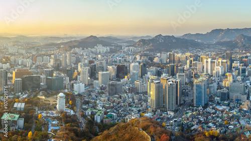 Keuken foto achterwand Seoel Seoul city South korea ,sunset time