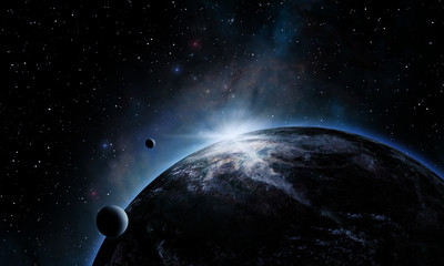 Planet Space Eclipse