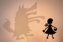 Little Red Riding Hood And Big Bad Wolf's Shadow