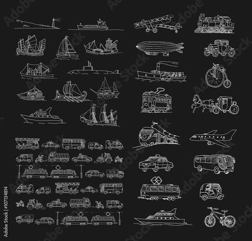 Fotografia Big set with different transport