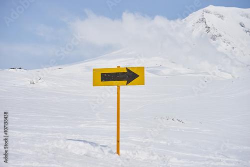 Fotografie, Obraz  大雪山・旭岳の標識