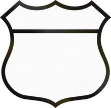 Blank Highway Route Shield Used In The US