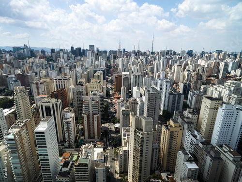 Foto op Aluminium New York Aerial View of Sao Paulo, Brazil