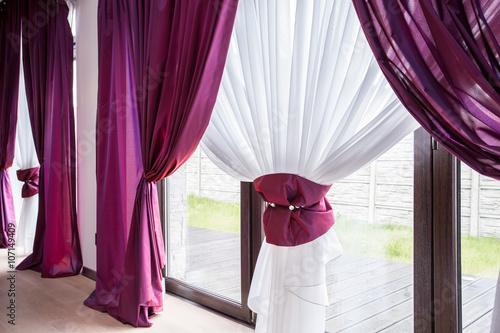 Fotografía  Elegant curtain and drapes