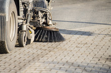 Street Sweeper Machine Cleaning The Street