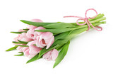 Fototapeta Tulipany - Pink tulips