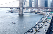 Traffic In FDR Drive, New York