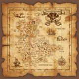 Vector Pirate Treasure Map