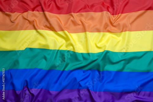 Fotografía Rainbow flag for background