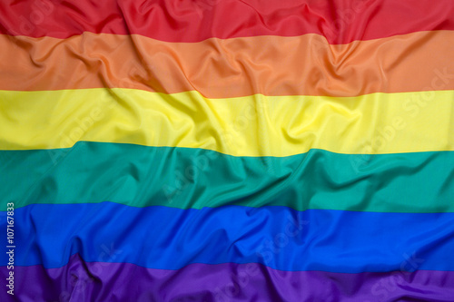 Photo Rainbow flag for background