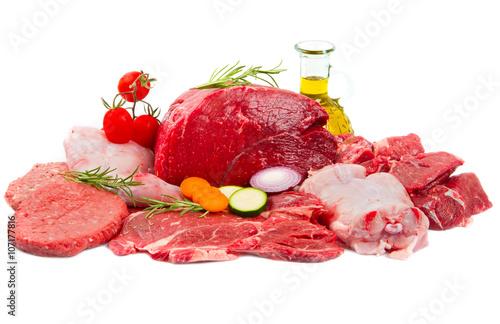 Staande foto Vlees Raw meat mix