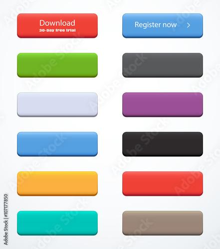 Fotografía  Set of rectangle buttons