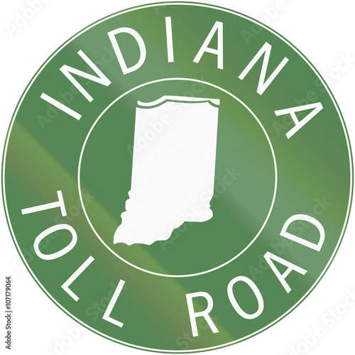 Fotografia  Indiana Toll Route shield from 1968 used in the United States