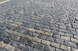 Stone pavement texture, Moscow, Russia, Red Square