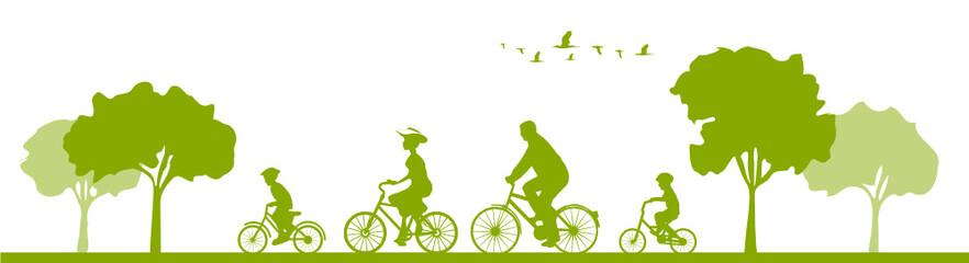 Panel Szklany Rower Radfahrer Radtour Familie