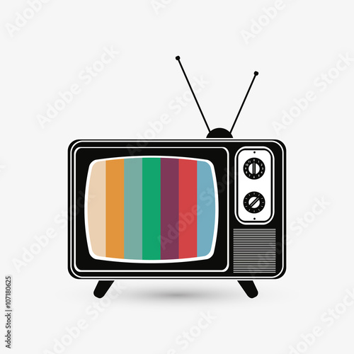Fotografía  Television icon design, vector illustration
