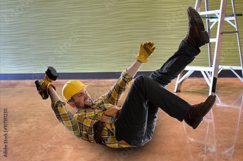 Fotografie, Obraz  Falling Worker