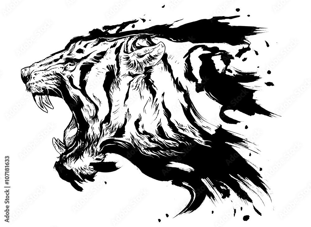 tiger kopf zum ausmalen
