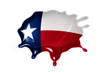 Blot With Texas State Flag
