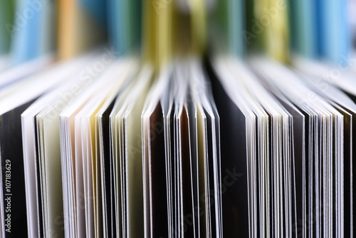 Obraz Closeup of the edge of open book pages - fototapety do salonu