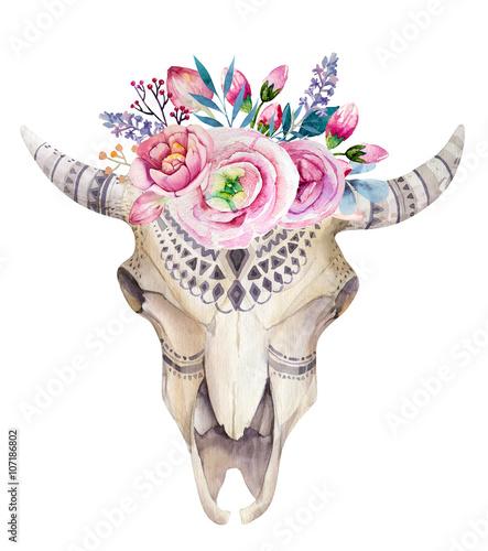 czaszka-krowy-z-kolorowymi-kwiatami-rysunek-w-stylu-boho