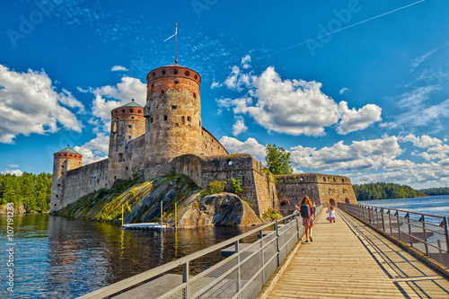 Cadres-photo bureau Scandinavie Olavinlinna Olofsborg Castle in Savonlinna, Finland