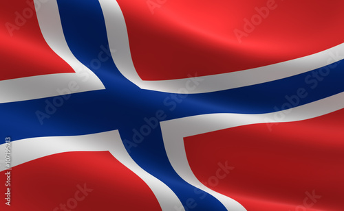 Flag of Norway Fototapeta