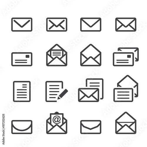 Fotomural  mail line icon