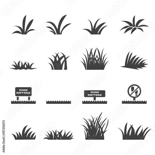 zestaw ikon trawy