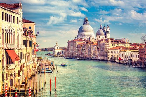 Foto op Plexiglas Venetie Grand Canal and Basilica Santa Maria della Salute in Venice