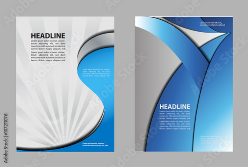 Poster Abstract wave vector business marketing brochure, poster template