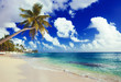 vacation on a seashore of perfect tropical island