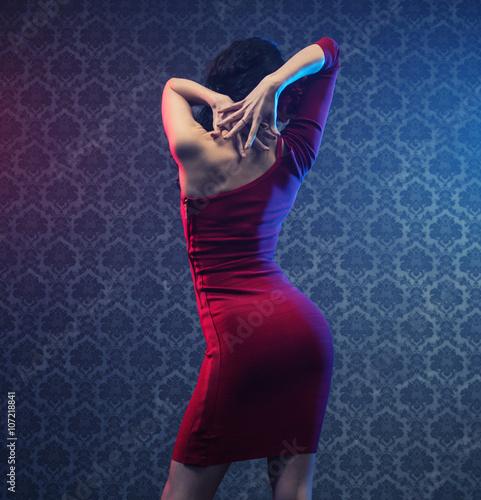 Fotografie, Obraz  Smyslná mladá praktikující učitel flamenco