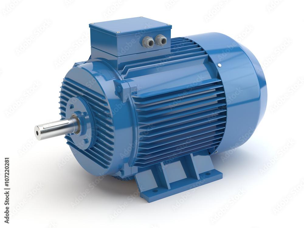 Fototapeta Blue electric motor