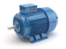 Blue Electric Motor