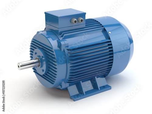 Photo  Blue electric motor