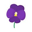 Violet icon, cartoon style