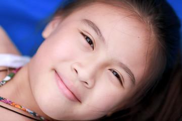 happy little asian girl