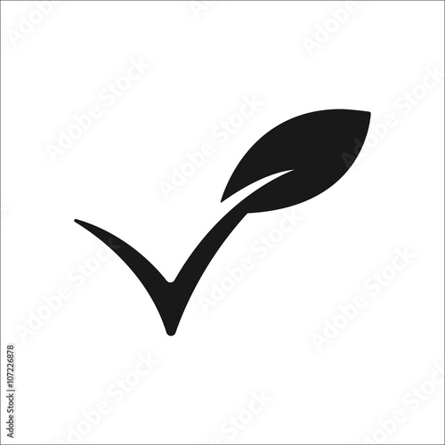 Vegan sign simple icon on  background Wall mural