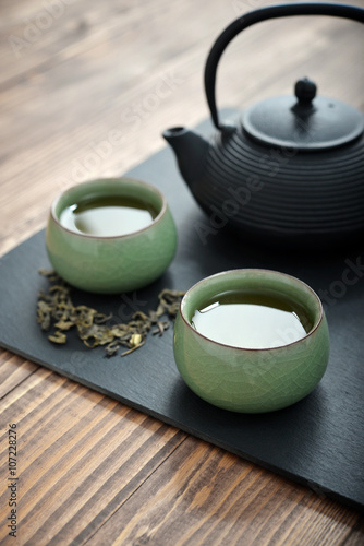 Canvastavla  Fresh green tea