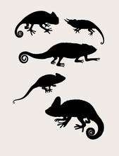 Reptilian Silhouettes, Art Vector Design