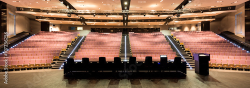 Enormous auditorium on modern university