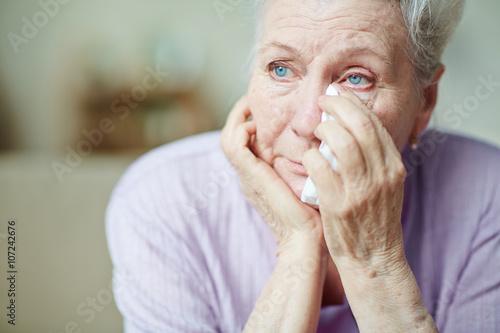 Photo Upset woman