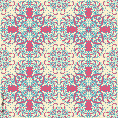 Printed kitchen splashbacks Moroccan Tiles Seamless abstract pattern, hand drawn texture for Wedding, Bridal, Valentine's day or Birthday Invitations. Floral geometric background. Fabric or paper print.