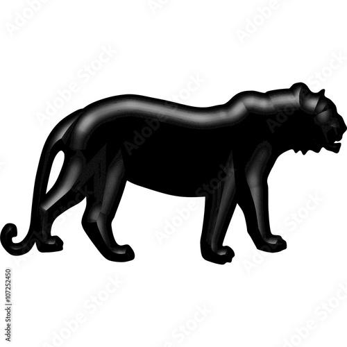 Photo  tiger silhouette