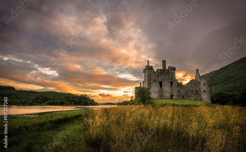 Foto op Canvas Kasteel Kilchurn Castle at Loch Awe, Scotland