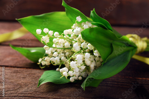 Tuinposter Lelietje van dalen bunch of lily of the valley
